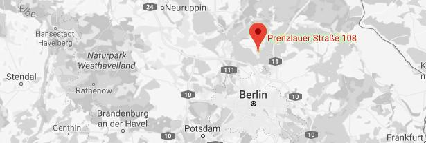 Kartenausschnitt Berlin/Wandlitz