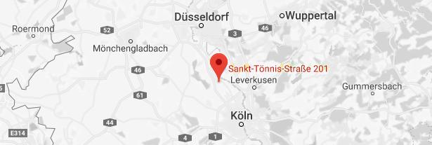 Kartenausschnitt Köln